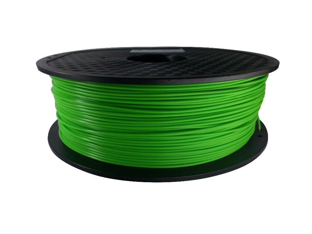 3D Printing Material 1.75 mm Green PLA Filament (Great Quality)
