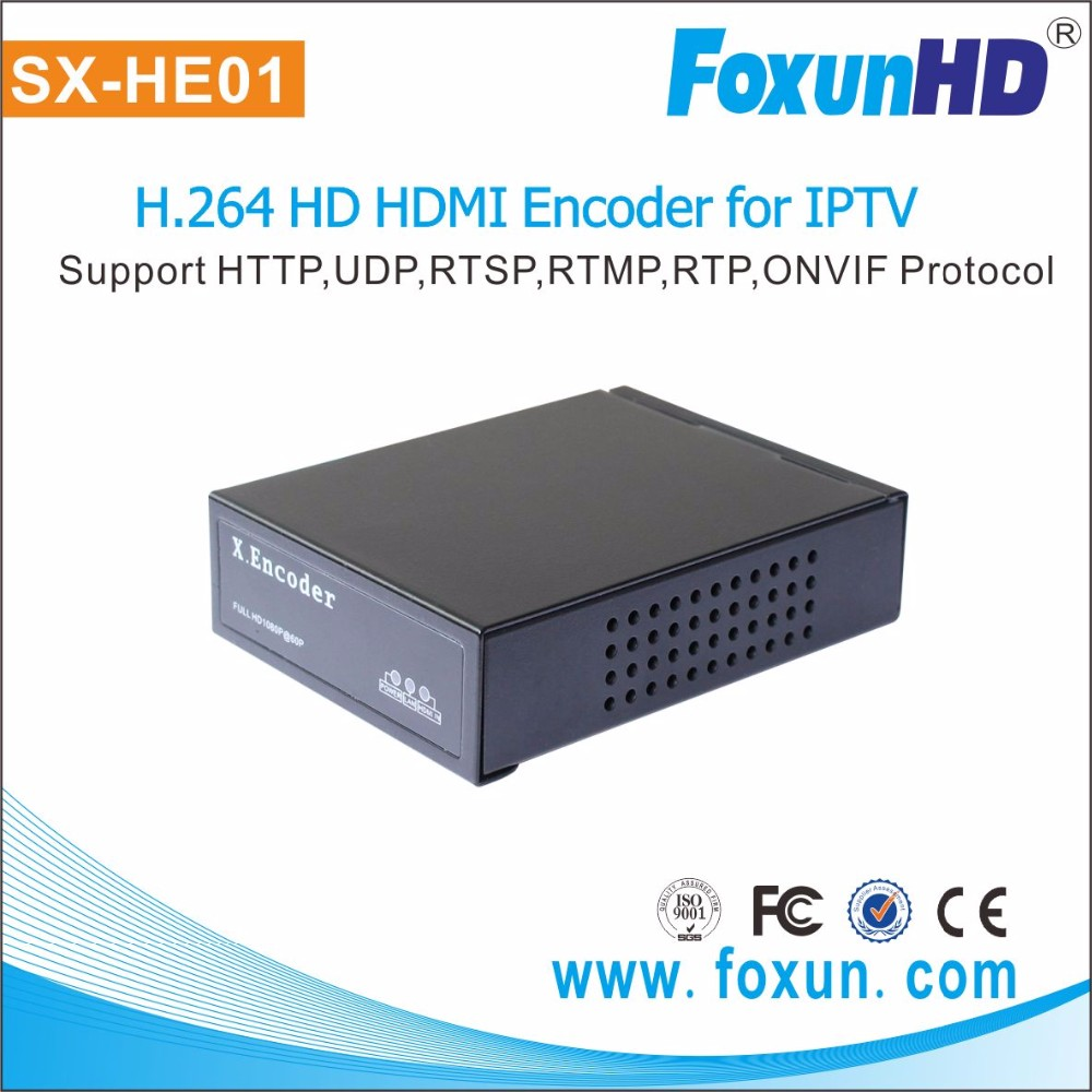 Foxun RTSP H.264 encoder over IP home video/audio encoding customized resolution function
