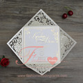 2017 Wholesale Royal white Paper laser cut Wedding Cards Invitation