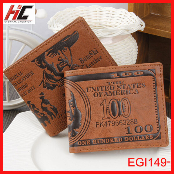 2014 Hotsale creative design promotional Dollar wallets and purses Wholesale alibaba stock price