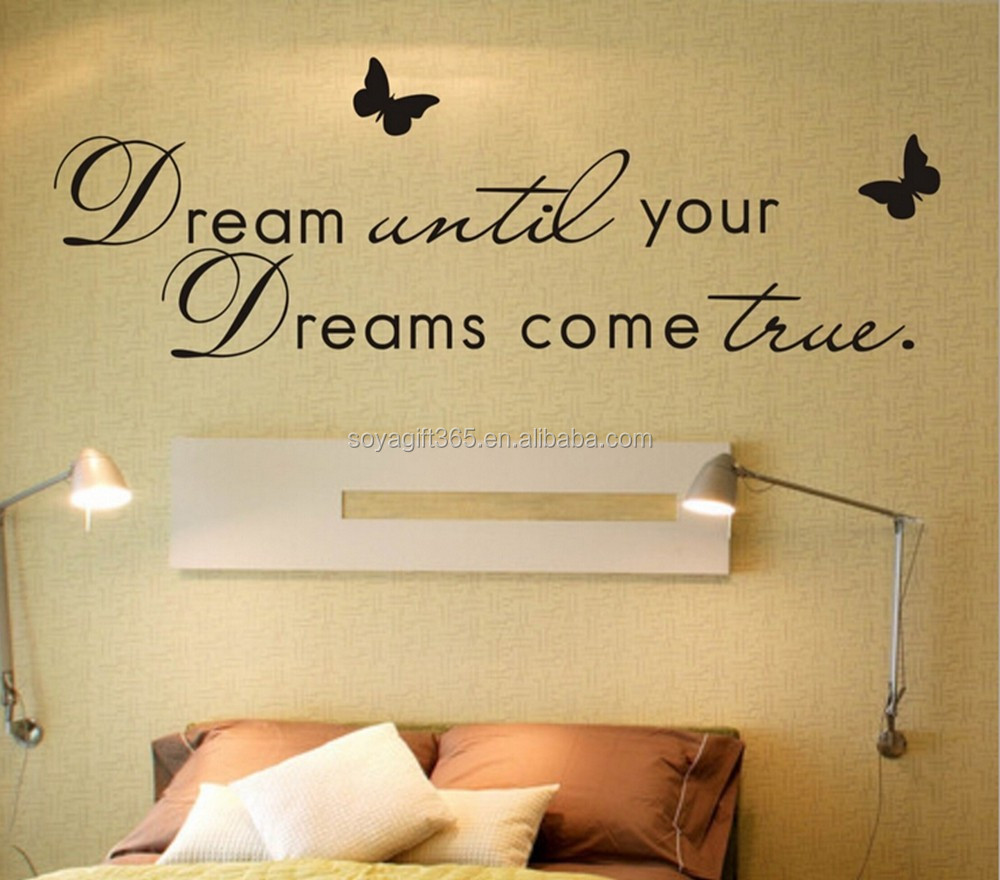Dream Until Your Dreams Come True Wall Art Quote Removable Stickers Vinyl Decalsdream