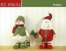 st.pauli factory brand oem high quality christmas santa decoration and snowman