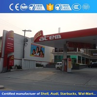 Outdoor Metal Stainless Steel Gas Station Canopy