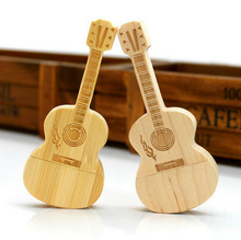 Guitar usb stick wood usb flash drive in guitar shape pen drive bulk cheap wooden hot sell in china