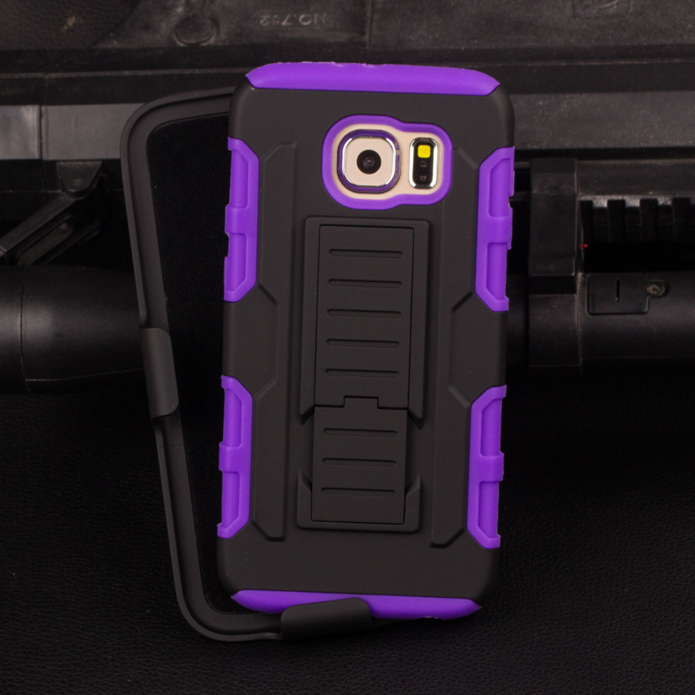 Top Selling Case in Alibaba High Quality Belt Clip PC+Silicone Combo Armor Case for Samsung Galaxy S7 S6 S5 S4