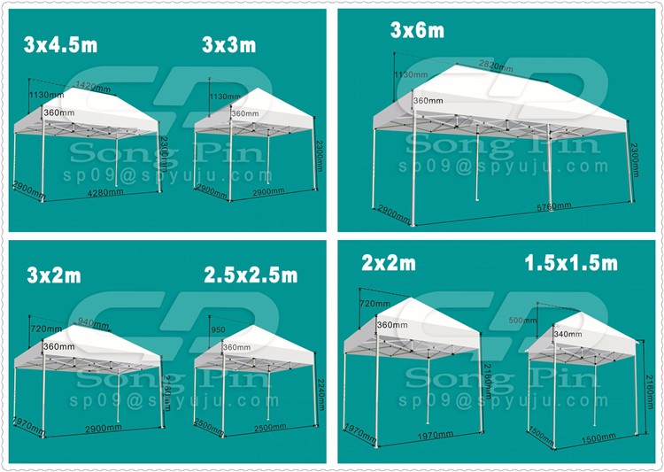 No MOQ 10x10 branded canopy tent for promotion China easy up tent with side panel
