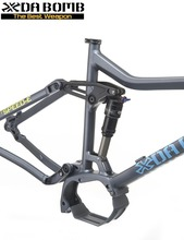 DaBomb Electric Mountain Full Suspension Bicycle Frame for Shimano System