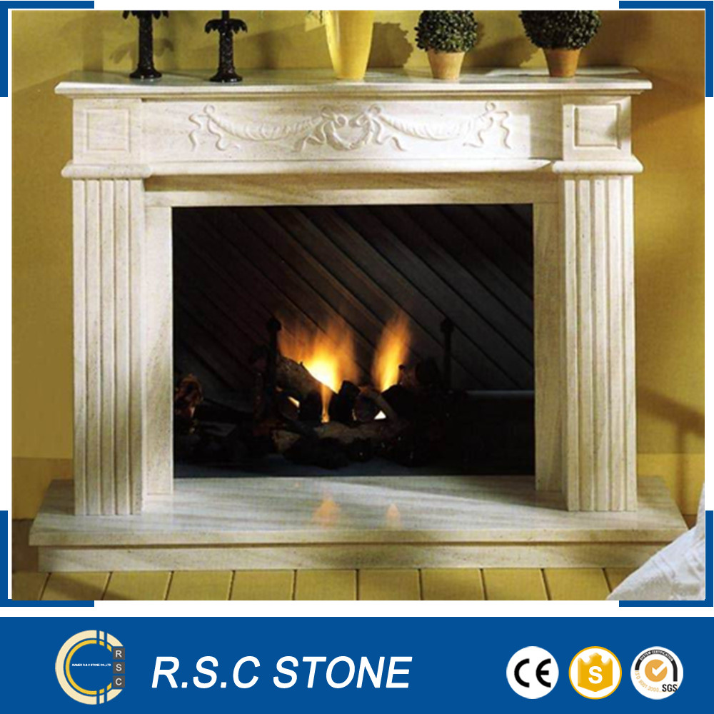 Chinese marble fireplace surround for decoration