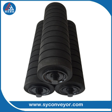 wear resistant belt conveyor rubber coated rollers