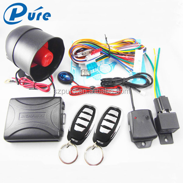 High Quality Compatitive Price One Way Car Alarm System Safeguard Car Alarm With Compact Box