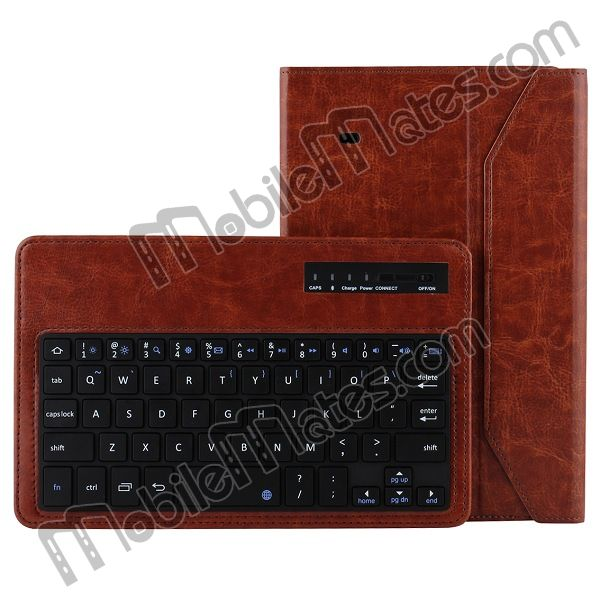 Leather Case Keyboard for Tab 4 8.0 T330, ABS Wireless Bluetooth Keyboard Flip Case for Samsung Tab 4 8""