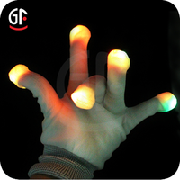 Hot Sell Products For Party Halloween Black Flashing Gloves