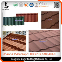 Fire resistant Aluminum zinc Roofing/Building Material/ roofing shingles For Villa