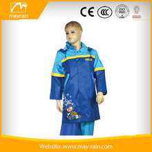 Waterproof Hooded Clear PVC Kids Rain Suit