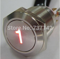 ELEWIND 19MM metal push button with number 1 illuminated(PM193F-11E/R/12V/S With illuminated '1' symbol)