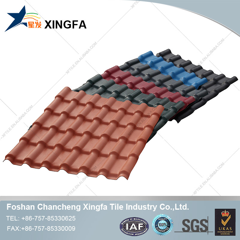 Cheap Waterproof Colorful ASA Coated PVC Roof Tile Shingles