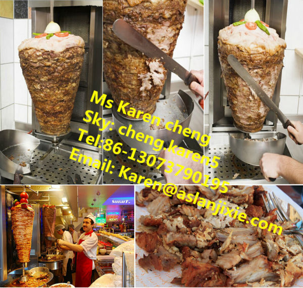 frozen doner kebab/frozen doner kebab meat machine