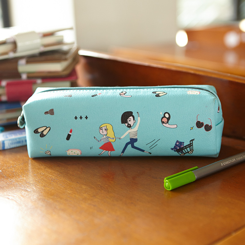 Cute Colorful Pencil Bag Pencil Case With Zip