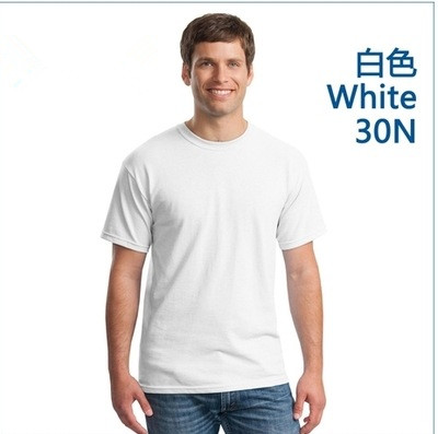 Wholesale Summer White Color Men Plain T-shirts