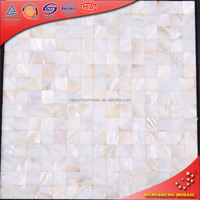 BK08 White Jointless Sea Shell Mosaic For Wall Decoration