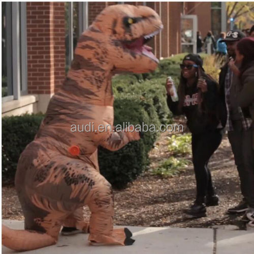 ADULT T-REX INFLATABLE Costume Jurassic World Park Blowup Dinosaur New