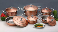12pcs copper cookware set luxury cookware set