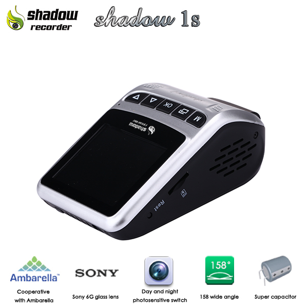 2016 Newest Technology Ambarella A7 Shadow 1s dvr h 264 recorder video for car