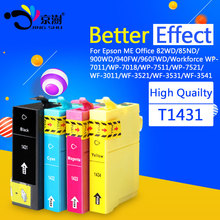 ink cartridge T1431 T1432 T1433 T1434 Compatible for Epson ME Office 82WD/85ND/900WD/940FW/960FWD Workforce WP-7011/WP-7018