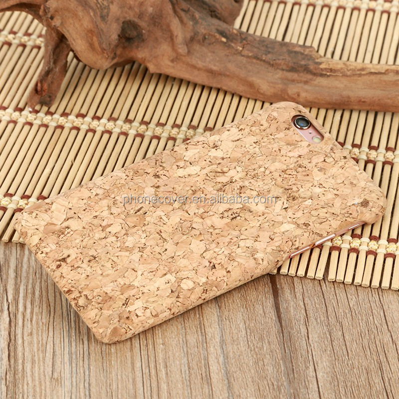 Eco-friendly custom engraving design cork wood cell phone case for iphone 6, for iphone 7, for iphone 7 plus