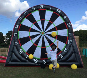 Free ball sets inflatable dart game/inflatable soccer darts for sale