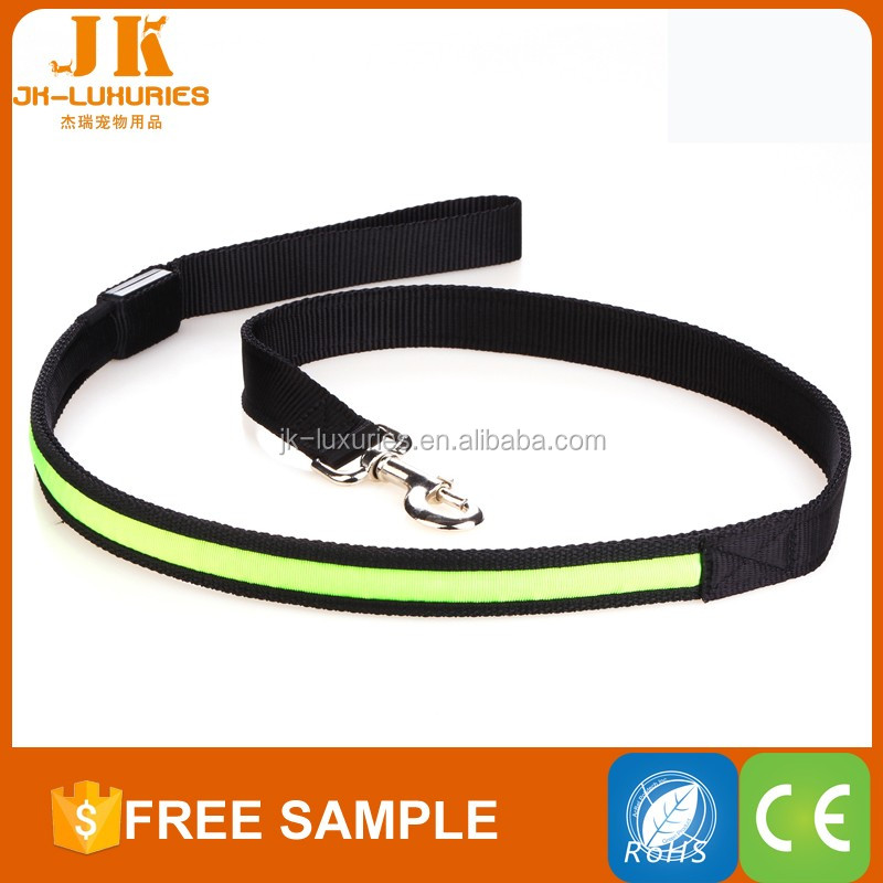 tight weave nylon led safty leash keep cool at night