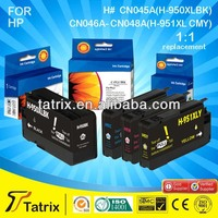 Compatible for HP 950xl 951xl Black and Color ink inkjet cartridge for HP 8100 / 8600 for HP 950xl 951xl