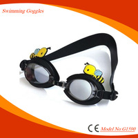 2017 China manufacture offer safety and funny swimming goggles for kids with adjustable strap