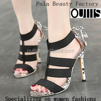 2017 factory wholesale girls latest high heel sandal PZ3853
