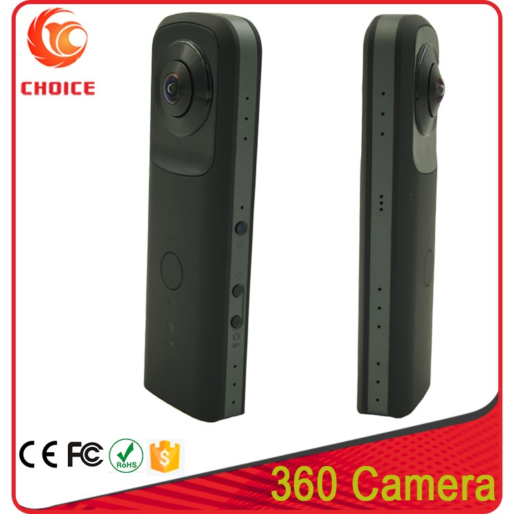 High Quality 1080P MP4 Video Format 360 Degree Video Action Spherical Camera With DVR