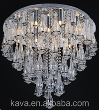 The fashion light with the flower surface detail decorative glass ceiling lamp