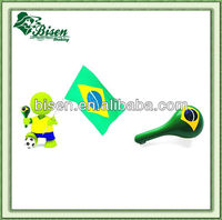 2014 Brazil World Cup football fan plastic maracas with horn