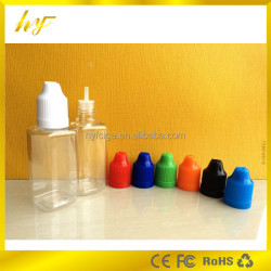 the cheapest price on alibaba 30ml clear PET rectangular e liquid bottle with child proof cap from China supplier