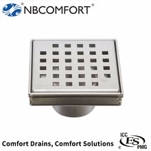 ODM available stainless steel 304/316 4 inches stainless steel floor drain