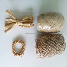 natural twisted paper cord and raffia