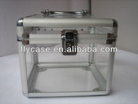 2014 new design acryl aluminum case,cosmetic case,beauty case with transparence top