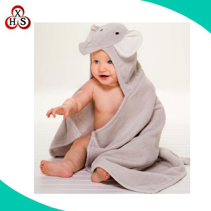 high quality custom baby hooded towel bamboo baby hooded bath towel factory