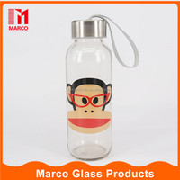 300ml Franky drinking water juice protective bag sports glass water bottle