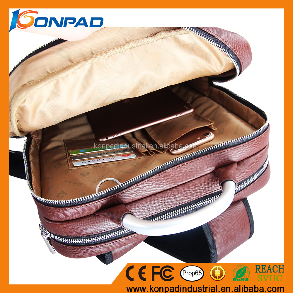 Hot Selling Unisex Good Custom Camera Laptop Waxed Vintage Leather Backpack