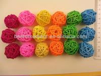 Promotional gifts decoration woven wicker colorful balls
