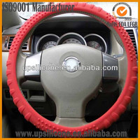wholesale pink rubber silicone steering wheel cover