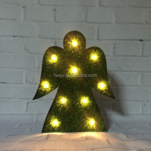 Outdoor lighted metal sign light christmas led decorative hanging angles