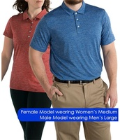 OEM 100%Polyester Heather Performance Golf Shirts