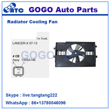12v DC CAR Radiator A/C Cooling Fan Motor for LANCER-X 07-13 OEM 1355A146