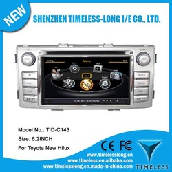 S100 Car Radio For Toyota Hilux 2012 with GPS A8 Chipset 3 zone POP 3G/wifi BT 20 dics playing